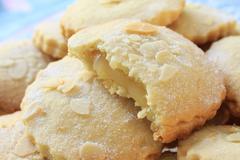Lemon curd tarts Stock Photos
