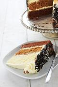 chocolate layer cake - stock photo
