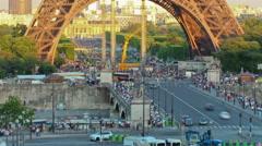 Paris Eiffel Tower Stock Footage