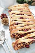 Lattice sweet mince  fruit Tart Stock Photos
