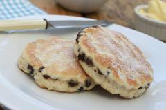 Traditional welsh cakes Stock Photos