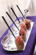 canape finger food - stock photo