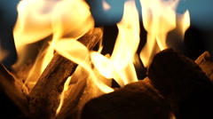 Stockfootage - Fireplace on a table at a beachclub - Closeup Stock Footage