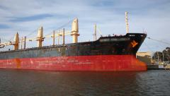 Stock Video Footage of Sailing pass a bulk carrier