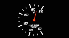 Illustration of a Water Temp Meter on a Black Background Stock Footage