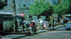 1964: Busy streets and alleys of San Juan, Puerto Rico. - stock footage