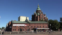 Uspenski Cathedral (in 4k) in Helsinki, Finland. Stock Footage