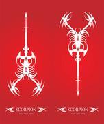 White Scorpion, Artistic Scorpion. - stock illustration