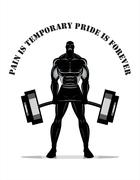 Body builder. Full body Silhouette - stock illustration