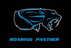 panther. panther head - stock illustration