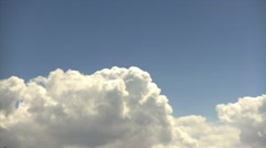 Big Puffy White Cloud Time Lapse Stock Footage