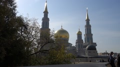 The largest and highest in Europe Muslim mosque - stock footage
