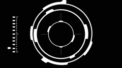 A Sniper Head up Display Locking on Target on a Black Background Stock Footage