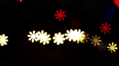 Flower shape bokeh lighting Stock Footage