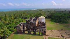 Aerial View of Garcia D'Avila Castle, or Casa da Torre, in Praia do Forte, Bahia Stock Footage