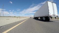 Interstate 15 Between Barstow and Las Vegas Stock Footage