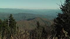 Endless autumn mountain range Stock Footage