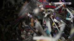 Document shredding Stock Footage
