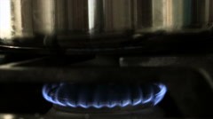 Gas Stove Burner slow motion - stock footage