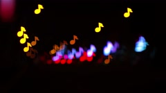 Klef treble shape bokeh Stock Footage