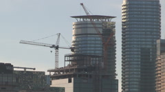 Stock Video Footage of Toronto skyline with condos under construction