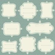 Decorative Frame Set - stock illustration