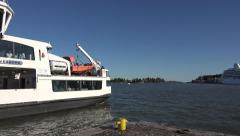 A Suomenlinea passenger ferry (in 4k), Helsinki, Finland. Stock Footage