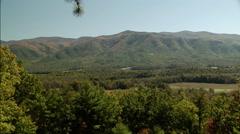 valley and autumn mountain - stock footage