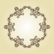 Frame Border Design - stock illustration