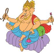 Stock Illustration of Ganesha The Lord Of Wisdom