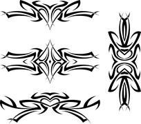 Tattoo Arm Band Set Stock Illustration