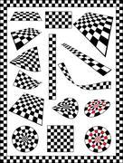 Stock Illustration of Race Flag Various Designs, Vinyl Ready