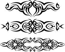 Tribal Tattoo Design Stock Illustration