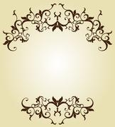Flourish Ornamental Design - stock illustration