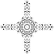 Christian Cross Design - stock illustration