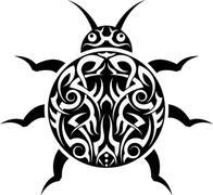 Stock Illustration of Tattoo Lady Bug