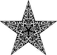 Tattoo Star Design - stock illustration