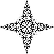 Tattoo Christian Cross - stock illustration
