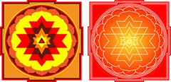 Shree Yantra: Shree = Wealth, Yantra = Instrument. It Is The Most Auspicious, - stock illustration