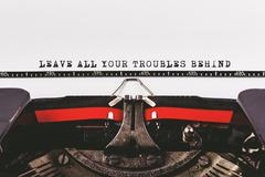 Leave all your troubles behind - stock photo