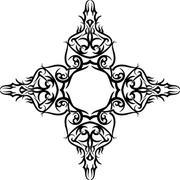 Tattoo Christian Cross Stock Illustration