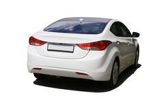 White car isolated on white Kuvituskuvat