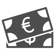 Banknotes Flat Icon Stock Illustration