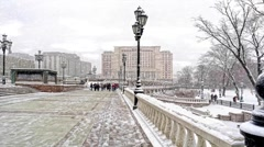 Moscow. Winter landscape - stock footage