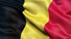 4K Belgium flag seamless loop Ultra-HD Stock Footage