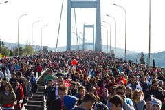 35th Istanbul Eurasia Marathon - stock photo