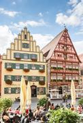 Medieval old town of Dinkelsbuehl - stock photo