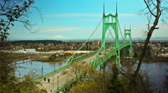 Portland City St Johns Stock Footage