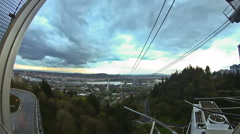 Portland City SW OHSU Stock Footage
