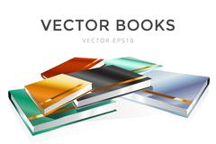 Stock Illustration of Book 3d vector illustration isolated on white